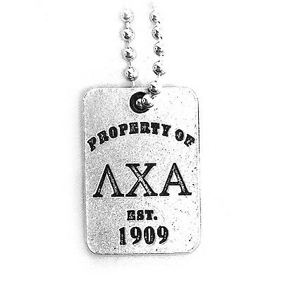 Lambda Chi Alpha Property Of Dog Tag With Chain