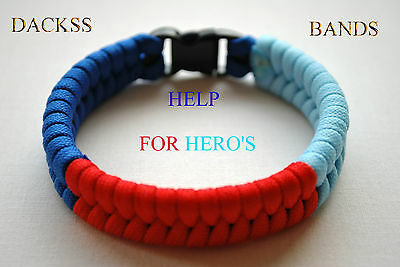British Army Navy RAF Hand Made Paracord Wristband Un-Official Help For Hero's
