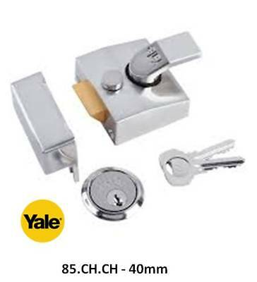 Yale Front Door Lock Nightlatch No.85 & 89 Mixed Finishes - Extra Keys available