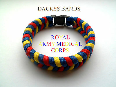 British Army Medical Corps 550 Paracord Wristband Un-Official Help For Hero's