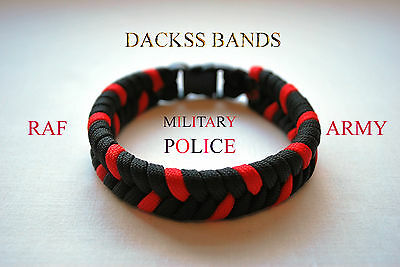 RAF/Army Military Police Corps Paracord WristBand Un-Official Help For Hero's