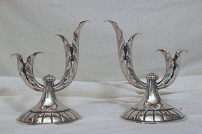 ALLAN ADLER Early CANDLE HOLDERS Pair Sterling Silver