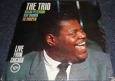 Oscar Peterson, Ray Brown, Ed Thigpen, The Trio Live from Chicago LP - V6-8420