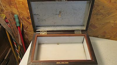 Antique Wood Tobacco Chest Humidor