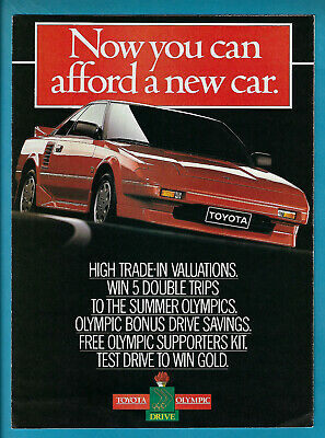 Toyota 1988 Models 8 Page Fold Out Sales Brochure [Vs]