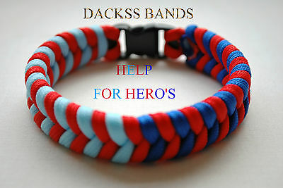 British Army Navy RAF 550 Paracord Wristband Un-Official Help For Hero's