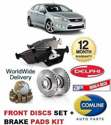 For Ford Mondeo 2007-2014 New Front Brake Discs Set + Disc Pads Kit