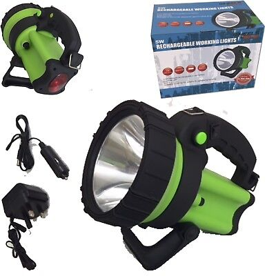 New 5 Watt Cree Led Rechargeable Spot Lamp Lantern Torch 6 Million Candle Power