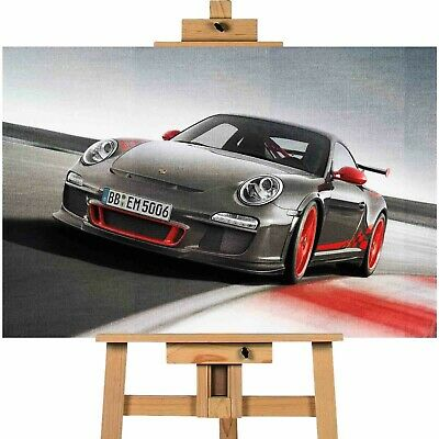 PORSCHE 911 GT3-34X24 INCH A1 LARGE CANVAS FRAMED ART PRINT GT-3 GT 3 Art