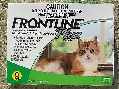 Frontline Plus for Cats Green Box-6 month FAST SHIPPING!!