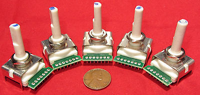 5 pcs - Bourns 6 Position Rotary Switch Continuous Rotation 360 Degree SP6T ST6