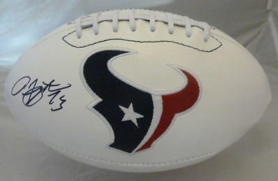 ARIAN FOSTER AUTOGRAPHED/SIGNED HOUSTON TEXANS WHITE PANEL FOOTBALL JSA