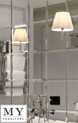 6 X Large 30cm x 30cm  Mirror Square Wall Tiles - with bevel - Bathroom Kitchen