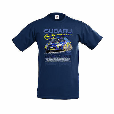 SUBARU IMPREZZA 555 WORLD RALLY CAR (McRAE) ADULTS T SHIRT SMALL TO 3XL.NEW