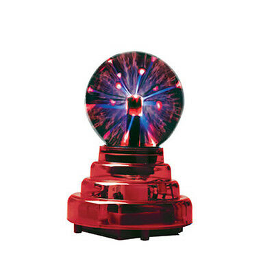 "Plasma Ball with Red Base 3"" Inch Party Disco Lighting Light Novelty Gift"