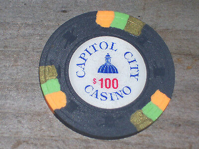 $100 Gaming Chip From The Capital City Casino
