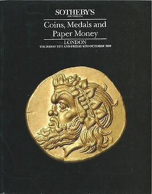 Sotheby's London 1989 Catalogue Of Coins Medals And Paper Money 5.- 6. October