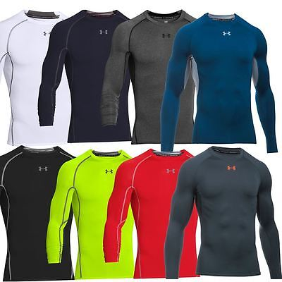 Under Armour 2017 Mens Heatgear Armour Longsleeve Compression Shirt Baselayer