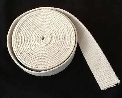 "Cotton 1"" Flat Lantern Wick 10' Roll Made in the USA Oil Lamp Wick"