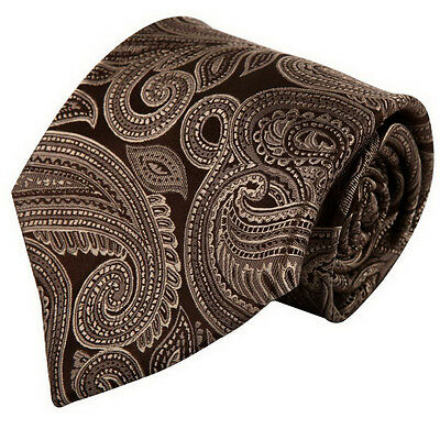 D6005 Brown Patterned Marriage Presents Polyester Neck Tie By Wise