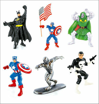 Official Bullyland Comansi Marvel DC Comics Figures Toy Cake Topper Toppers