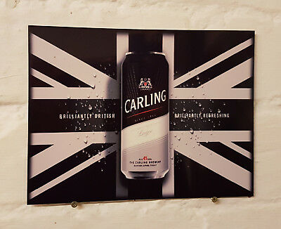 Carling Larger Retro metal Aluminium Sign vintage bar pub man cave beer signs