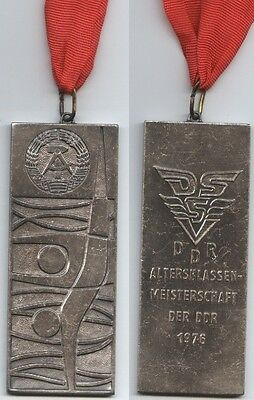 Orig.Silver medal   GDR Swimming Championships 1976 / with tape  !!  VERY RARE