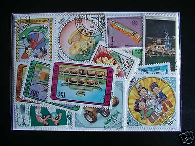 Timbres Asie / Mongolie : 100 Timbres Tous Differents / Mongolia Stamps