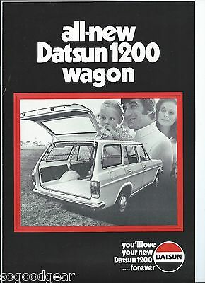 DATSUN 1200 WAGON single page double sided SALES BROCHURE [VS]