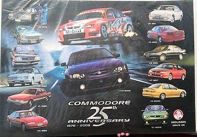 1978 - 2003 HOLDEN COMMODORE 25th Anniversary Dealership POSTER