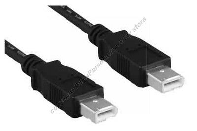 Lot10 6ft 6pin Male~M IEEE1394a Firewire/iLink/DV 400mbs Cable/Cord$SHdisc{BLACK