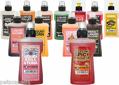 Bait Tech Liquid Attractant Additive Various Flavours 250Ml Attractor