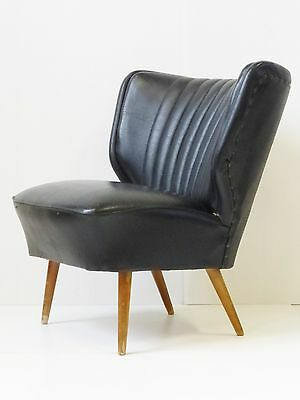 Confortable Fauteuil Crapaud Cocktail 1950 Vintage 50S Rockabilly Lounge Chair