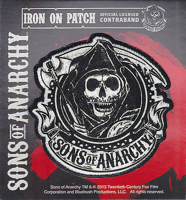 BRAND NEW Sons of Anarchy Circular Reaper Iron On Patch ~ Officially Licensed