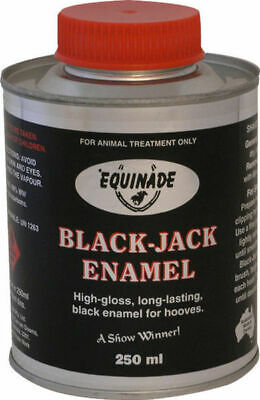 Equinade Black Jack Show enamel full gloss brush in lid competition horse pony