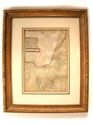 Antique Map of the Holy Land 1796 Christ's travels through the Middle East