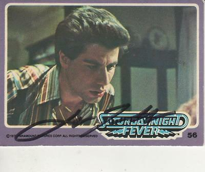 Entertainment Memorabilia John Travolta Signed Autographed Trading Card Saturday Night Fever 57 Jsa U99016