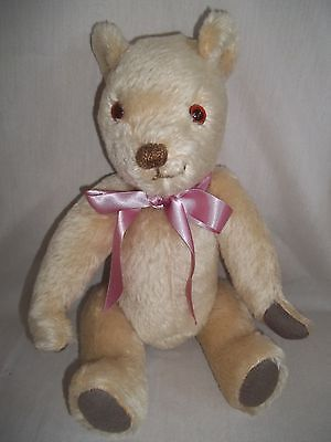 VINTAGE ANTIQUE ENGLISH JOINTED MOHAIR  TEDDY BEAR