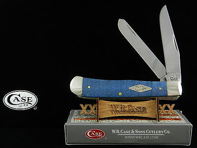 CASE XX BLUE CURLY MAPLE WOOD SMOOTH BONE TRAPPER KNIFE # 35900 - BEAUTY!