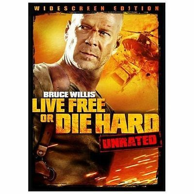 Die Hard 4: Live Free or Die Hard (DVD, 2007, Unrated; Widescreen;...MINT CONDTN