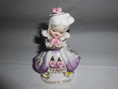 L'Amour China Sunday's Child Female Figurine Hand Painted 1950s-1960s #8474