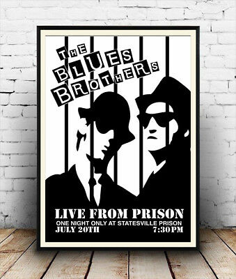 Blues Brothers live for one night : Vintage  Poster reproduction.
