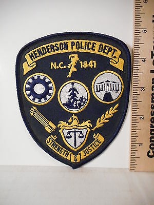 6162A.  Henderson North Carolina Police Department Shoulder Patch