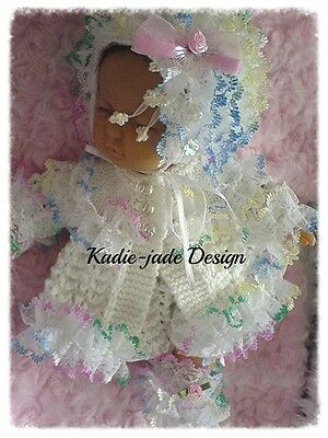 Knittng Pattern #50 (NOT THE KNITTED ITEM) Matinee Set for 10in Emmy Doll