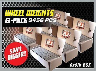 6 - 9 Lbs Boxes 3456 Pieces Stick-On Adhesive Tape 1/4 Oz Wheel Weights