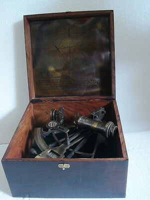 HENRY BARROW  Marine Sextant  -BRASS -Large Working Sextant -Best for Collector