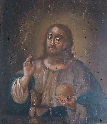 VERY EARLY RUSSIAN ICON OF JESUS CHRIST 18-19 century, 35 cm