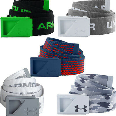 Under Armour Mens 2017 Webbing Range Golf Belt -Bottle Opener Buckle-Reversible