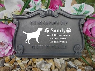 Dog Memorial - Scroll Plaque - Personalised with your Dog's Breed & Weatherproof