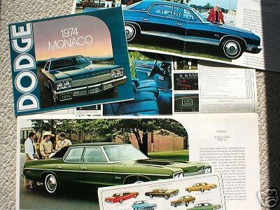 1974 DODGE MONACO Dealer Sales Brochure/Flyer